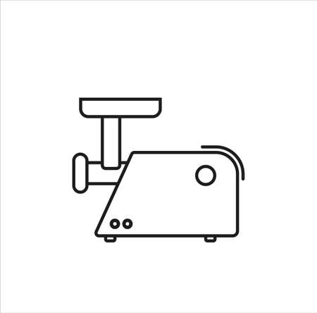 meat grinder line art vector icon on white background eps