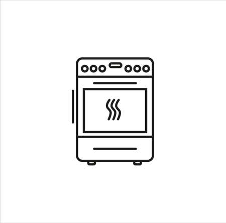 cooker line art vector icon on white background eps