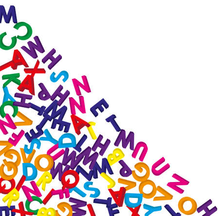 3D COLORED ENGLISH ALPHABETS RANDOMLY SCATTER