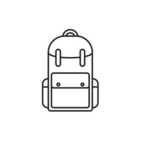 Vector Single Sketch Casual Backpack. Isolated Background. eps  イラスト・ベクター素材