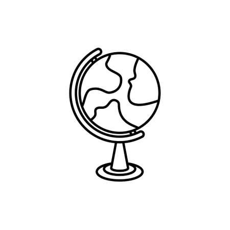 Globe flat design style on white background, vector illustration eps