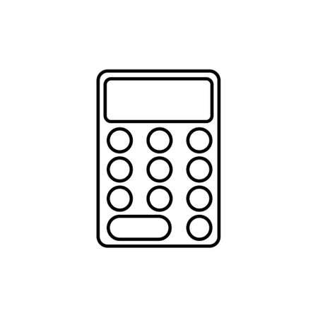 Calculator icon on white background. Vector illustration. eps
