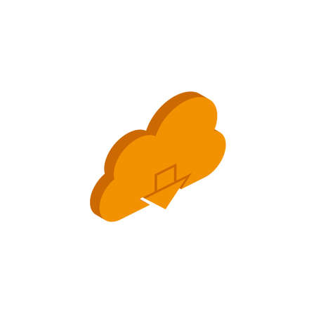 Isometric download icon on white background. flat style. 3d download icon for your web site design, logo, app, UI. download sign. EPS