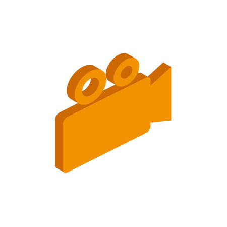 Vector isometric Camcorder icon on a white background eps  イラスト・ベクター素材