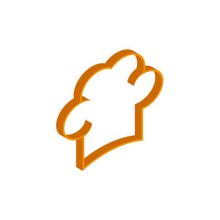 Vector isometric chef cap icon on a white background eps