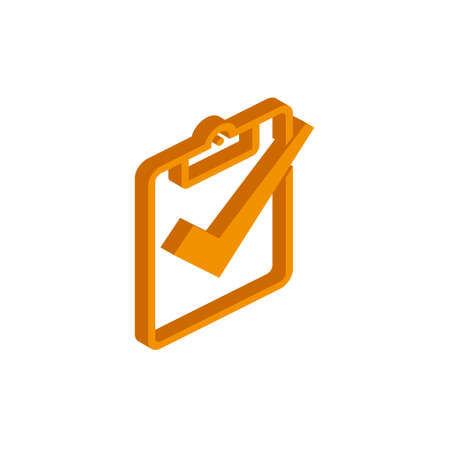 Vector isometric document icon on a white background eps  イラスト・ベクター素材