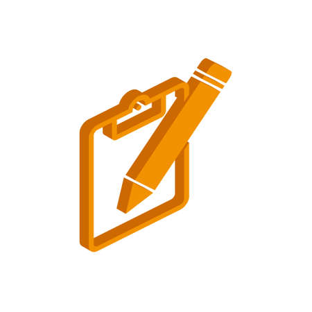Vector isometric PENCILS icon on a white background eps