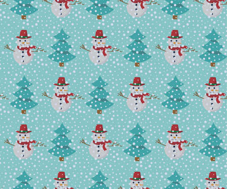Christmas background, seamless tiling, great choice for wrapping paper pattern