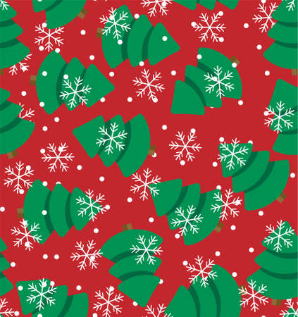 Vector illustration of a seamless pattern in a Christmas tree