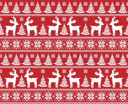 New Years Christmas pattern pixel vector illustration 向量圖像