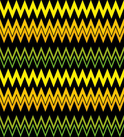 Vector background bright and colorful made of zig zag stripes Vettoriali