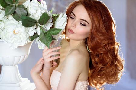 Red headed bride