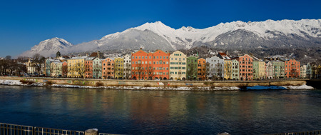 innsbruck: River, Hungerburg, Inn, Innbrcke, Innsbruck, Maria Hilf, Panorama, Seegrube Editorial