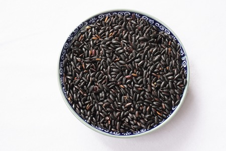 Bowl of black rice