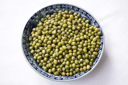 adzuki bean: green pea Stock Photo