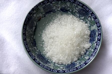 at white: White sugar