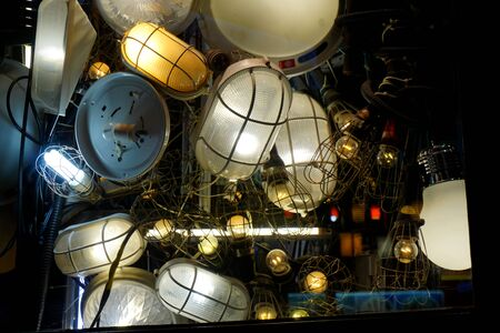 Closeup of lamps