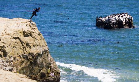 Crazy Jump Stock Photo