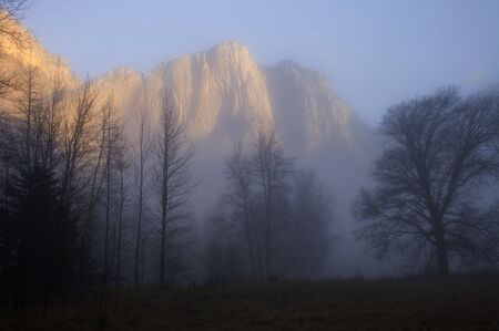 Misty Yosemite Stock Photo