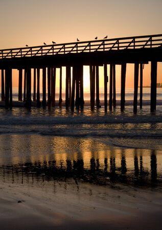 A Pier shot at sunset photo