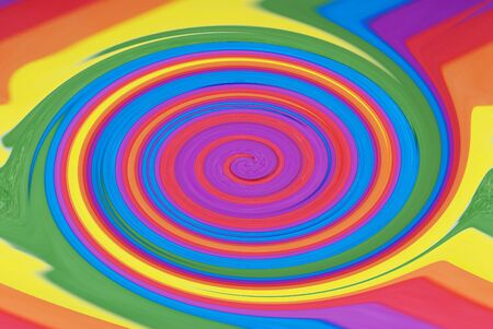 An abstract photograph of a swirling rainbow photo