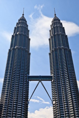 twin towers in the city Kuala Lumpur at daytime