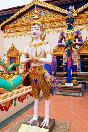 Sculpture at a hindu temple in Malaysia photo