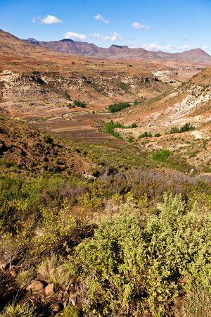 desolate: Desolate mountain landscape in Africa