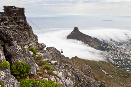 cape town: View from table mountain on Cape town South africa Stock Photo