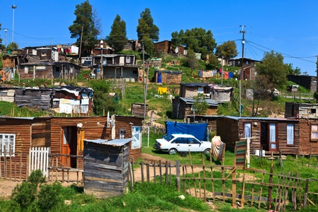 View of a township in South Africa