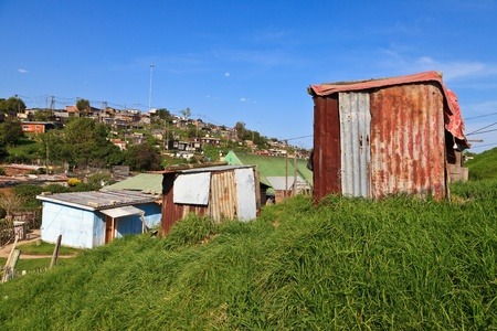 township: View of a township in South Africa