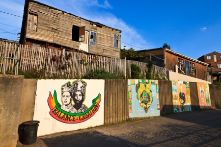 suburbs: View of a rasta township in South Africa