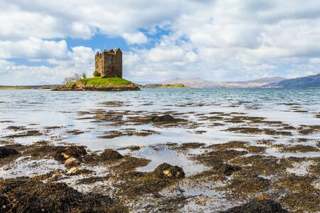 Medieval castle on a island in the water Stock Photo - 14925188