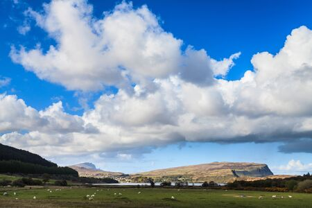 Landscape of the Scotisch island Skye with beautiful clouds Stock Photo - 15066682
