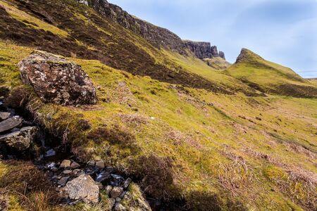 wheater: Rocks in a mountain landscape in Scotland