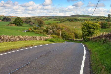 raod: Road through a desolate landscape of England
