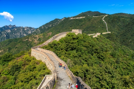 Great wall of China on a sunny day 報道画像