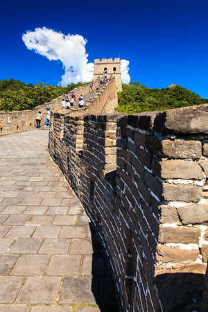 Sunny day at the great wall in China