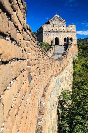 Great wall tower in China on a sunny day photo