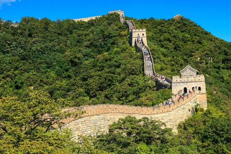 Sunny morning at the great wall in China near Beijing Stock Photo - 16425605