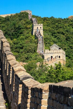 Great wall near Beijing in China on a sunny morning
