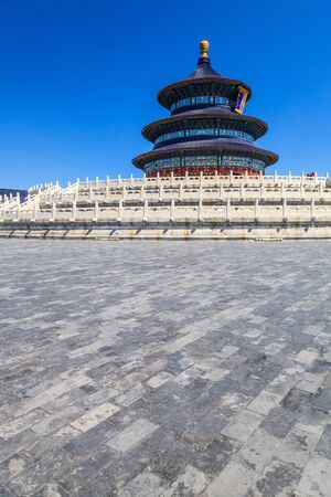 Temple of Heaven in Beijing with clear blue sky Stock Photo - 17604054