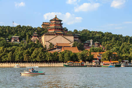 The summer palace in the city of Beijing China