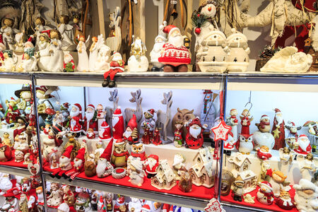 weihnachtsmarkt: Christmas decorations at a Christmas market stall