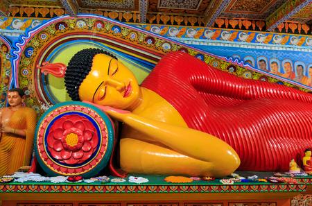 anuradhapura: Lying Buddha in a temple in Anuradhapura Stock Photo