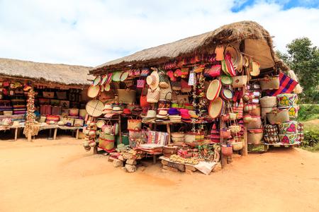 Souvenir shop along the road in Africa, Madagascar