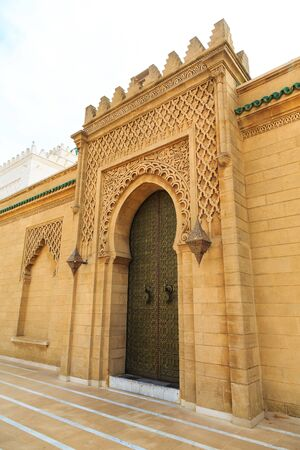 fes: Ancient entrance door  at the Royal palace in Morocco Fes Editorial