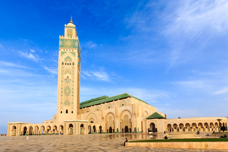 beautiful mosque Hassan second, Casablanca, Morocco