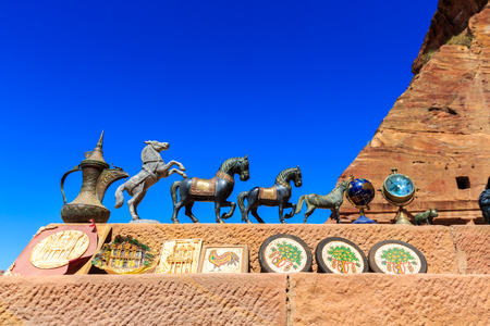 Souvenirs for sale at the historical city of Petra in Jordan