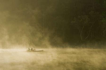 barge: barge in fog